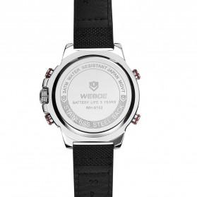 Weide Jam Tangan Analog Pria - WH6102 - Silver Black - 4