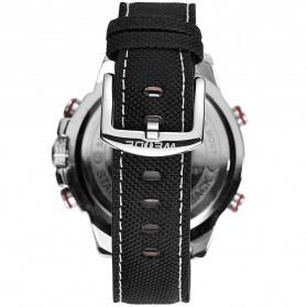 Weide Jam Tangan Analog Pria - WH6102 - Silver Black - 5