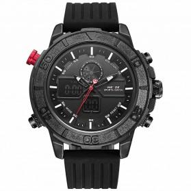 Weide Jam Tangan Analog Digital Pria - WH6108 - Black/Black - 2