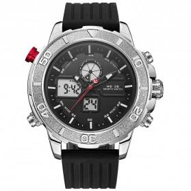 Weide Jam Tangan Analog Digital Pria - WH6108 - Silver Black - 2