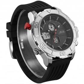 Weide Jam Tangan Analog Digital Pria - WH6108 - Silver Black - 3