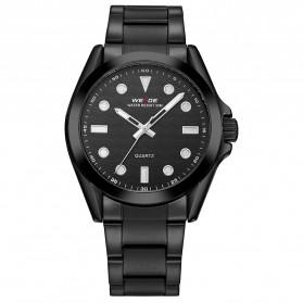 Weide Jam Tangan Analog Pria - WH802 - Black/Black
