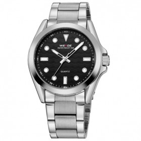 Weide Jam Tangan Analog Pria - WH802 - Silver Black - 2
