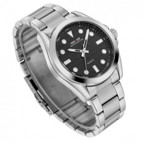Weide Jam Tangan Analog Pria - WH802 - Silver Black - 4
