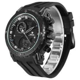 Weide Jam Tangan Analog Digital Pria - WH6903 - Black/Black - 2