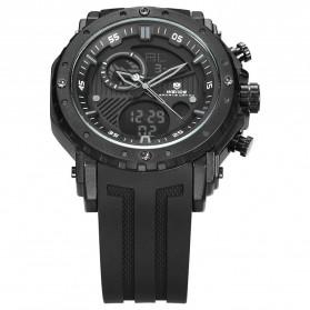 Weide Jam Tangan Analog Digital Pria - WH6903 - Black/Black - 4