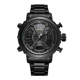 Weide Jam Tangan Analog Digital Pria - WH6905 - Black/Black