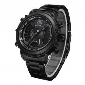 Weide Jam Tangan Analog Digital Pria - WH6905 - Black/Black - 2