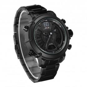 Weide Jam Tangan Analog Digital Pria - WH6905 - Black/Black - 3