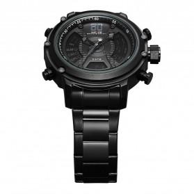 Weide Jam Tangan Analog Digital Pria - WH6905 - Black/Black - 4