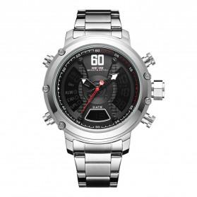 Weide Jam Tangan Analog Digital Pria - WH6905 - Silver Black