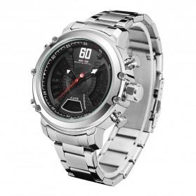 Weide Jam Tangan Analog Digital Pria - WH6905 - Silver Black - 2