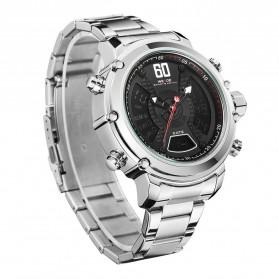 Weide Jam Tangan Analog Digital Pria - WH6905 - Silver Black - 3