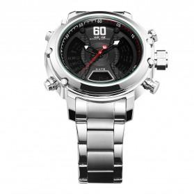 Weide Jam Tangan Analog Digital Pria - WH6905 - Silver Black - 4
