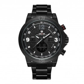 Weide Jam Tangan Analog Digital Pria - WH6908 - Black/Black