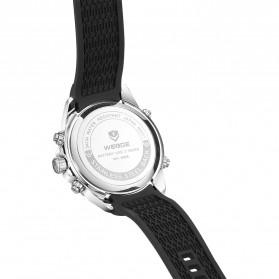 Weide Jam Tangan Analog Digital Pria Strap Silicone - WH6909 - Black/Silver - 3