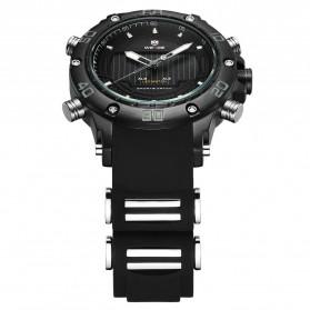 Weide Jam Tangan Analog Pria Strap Silicone - WH6910 - Black/Black - 4