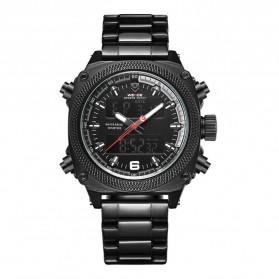 Weide Jam Tangan Analog Digital Pria - WH7302 - Black/Black