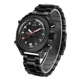 Weide Jam Tangan Analog Digital Pria - WH7302 - Black/Black - 2