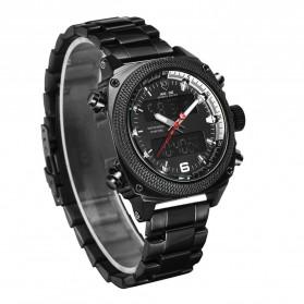 Weide Jam Tangan Analog Digital Pria - WH7302 - Black/Black - 3