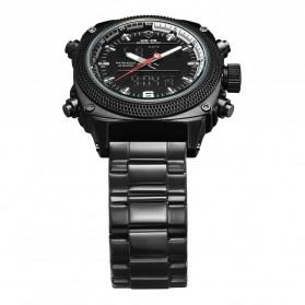 Weide Jam Tangan Analog Digital Pria - WH7302 - Black/Black - 4