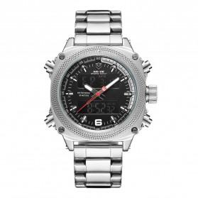 Weide Jam Tangan Analog Digital Pria - WH7302 - Silver Black
