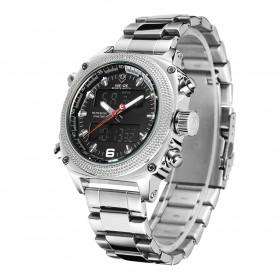Weide Jam Tangan Analog Digital Pria - WH7302 - Silver Black - 2