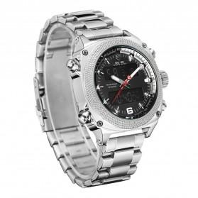 Weide Jam Tangan Analog Digital Pria - WH7302 - Silver Black - 3