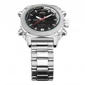 Weide Jam Tangan Analog Digital Pria - WH7302 - Silver Black - 4
