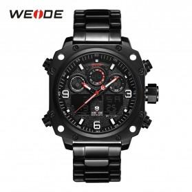Weide Jam Tangan Analog Digital Pria - WH7303 - Black/Black
