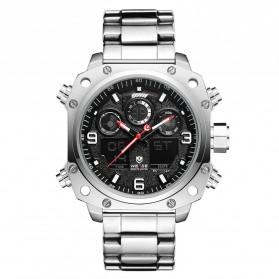 Weide Jam Tangan Analog Digital Pria - WH7303 - Silver Black