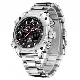 Weide Jam Tangan Analog Digital Pria - WH7303 - Silver Black - 2
