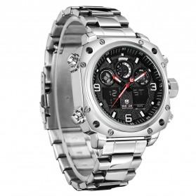 Weide Jam Tangan Analog Digital Pria - WH7303 - Silver Black - 3