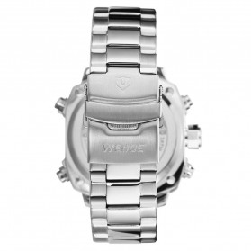 Weide Jam Tangan Analog Digital Pria - WH7303 - Silver Black - 5