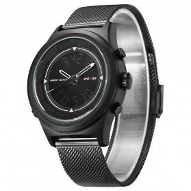Weide Jam Tangan Analog Digital Pria - WH7305 - Black/Black - 2