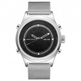 Weide Jam Tangan Analog Digital Pria - WH7305 - Silver Black