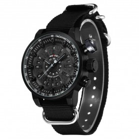 Weide Jam Tangan Analog Pria - WH7306 - Black/Black