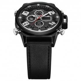 Weide Jam Tangan Analog Digital Pria - WH7309 - Black/Black - 6