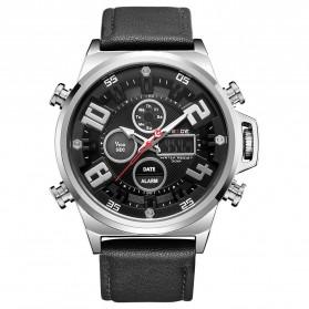 Weide Jam Tangan Analog Digital Pria - WH7309 - Silver Black