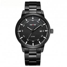 Weide Jam Tangan Analog Pria - WD002 - Black/Black