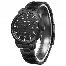 Weide Jam Tangan Analog Pria - WD002 - Black/Black - 2