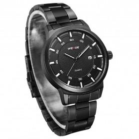 Weide Jam Tangan Analog Pria - WD002 - Black/Black - 3