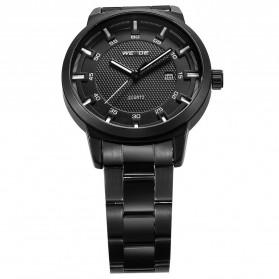 Weide Jam Tangan Analog Pria - WD002 - Black/Black - 4