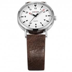 Weide Jam Tangan Analog Pria - WD003 - Brown/Silver - 4