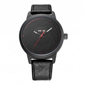 Weide Jam Tangan Analog Pria - WD005 - Black/Black