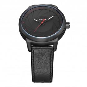 Weide Jam Tangan Analog Pria - WD005 - Black/Black - 4