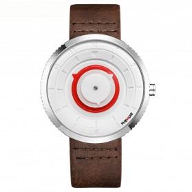 Weide Jam Tangan Analog Pria - WD006 - Brown/Silver