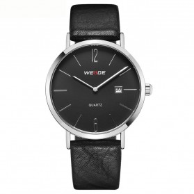 Weide Jam Tangan Analog Pria - WD007 - Black/Silver