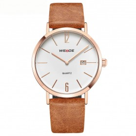 Weide Jam Tangan Analog Pria - WD007 - Brown/Gold
