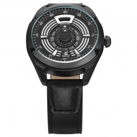 Weide Jam Tangan Analog Pria - UV1701 - Black/Black - 4